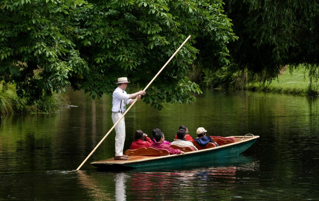 Punting in river