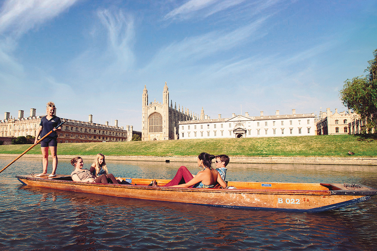 Cambridge punting with friends