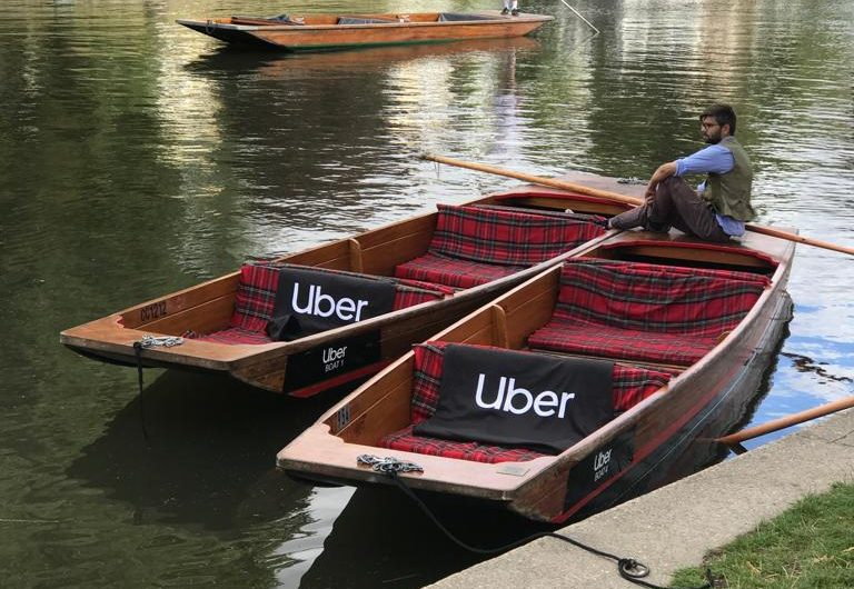 Uber punting in Cambridge